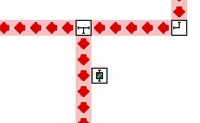 Guia os raios laser para as saídas com a mesma cor. Arrasta os diferentes blocos para curvar o raio laser ou para mudar de cor. Clica nos blocos para os virares.