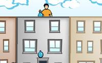 Tenta atingir o máximo de pessoas possível com os balões de água. Mas tem cuidado para não atingires a pessoa errada porque isso custa-te pontos.