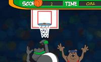 Tenta fazer o máximo de pontos possível antes que o tempo termine. Podes consegui-lo atirando a bola ao cesto todas as vezes possível.