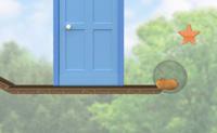O hamster Rhino está à procura de Bolt, apanha todas as estrelas e chaves para passar de nível