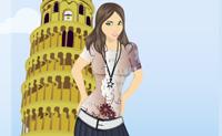 Veste esta rapariga para as suas férias em Itália