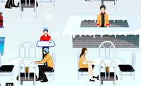 Tenta servir os clientes antes que congelem. Quando estão congelados tens primeiro de os aquecer.