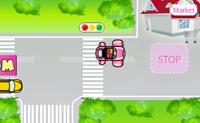 É um dia excitante para Susan porque hoje tem a sua primeira lição de condução. Pratica com a Susan conduzindo para diferentes sítios da cidade. Cuidado para não causares nenhum acidente pelo caminho.