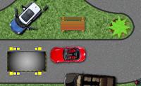 Tenta parquear o carro no parque apropriado o mais rápido possível. Cuidado para não atingires os outros veículos.