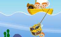 Tenta apanhar todos os tesouros do fundo do mar antes dos piratas.