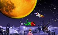 Atire nos inimigos e faça-os cair do espaço. Com o dinheiro, você pode comprar novas armas para a sua nave!