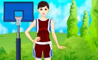 Esta jogadora de basquetebol está prestes a iniciar o seu treino. O seu namorado vem vê-la e ela quer parecer bem! Dá-lhe uma mão escolhendo roupas bonitas, penteado e maquilhagem.