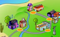 Bem-vindo à tua cidade das compras! Aqui podes construir a tua própria ilha de férias. Ganha dinheiro construindo e operando uma rede de lojas. Actualiza as lojas, aumenta os lucros e toma conta das lojas.  Clica no botão de Construir abaixo e selecciona um tipo de loja para a construíres. Clica no ícone cinzento para terminar a construção. Podes melhorar ou vender os teus prédios clicando na loja e seleccionando o ícone correspondente. As lojas podem-se danificar: Precisas de as reparar quando o ícone vermelho é mostrado. Clica no botão Reparar para reparares a tua loja. Fogos ou assaltos podem acontecer. Deves construir um quartel de bombeiros e uma esquadra de polícia para apagar os fogos ou apanhar um ladrão. Os clientes não entram na mesma loja e no mesmo nível de actualização mas podes construir prédios de tamanhos diferentes na mesma rua. Os cruzamentos são muito importantes neste jogo. Constrói lojas de serviços rápidas nos cruzamentos para receberes clientes de diversas ruas.