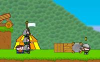 Neste jogo ajudas o Artur a conquistar 14 terras. Usa o teu ouro para comprares fortifica��es e tropas. Podes chamar at� quatro soldados, cada um com as suas pr�prias qualidades �nicas. Artur ficar� no seu posto e comanda os seus soldados, mas tem cuidado para que os inimigos n�o o atinjam: se a sua for�a de vida diminui, o jogo acaba. Por sorte tens uma espada de confian�a para te defenderes! A tua arma mais poderosa � a tua catapulta. Usa-a para atirares pedregulhos aos teus inimigos. Tamb�m podes atirar po��es, que t�m outros efeitos. Podes construir paredes e torres, mas tem cuidado: apenas podes construir no teu pr�prio territ�rio. H� sete governantes para vencer. Cada um deles tem estrat�gias de defesa e ataque diferentes.