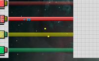 Neste jogo tens de parar o grande bloco cinzento que se move lentamente da direita para a esquerda. Podes fazê-lo causando explosões com os blocos coloridos que disparas com as cinco barras que tens à tua disposição. Logo que usas uma barra, o seu medidor de energia desce. Se não existe mais energia, a barra não pode ser usada durante um tempo, até que a energia volte a subir. Se conseguires empurrar o loco cinzento completamente, vais para o próximo nível.