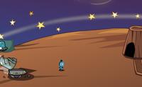 Tenta sair da lua onde aterraste, porque não é um lugar seguro para ficar... Mas primeiro, tens de cumprir as seguintes tarefas: 1. A lua onde aterraste está a ser bombardeada por meteoritos - então a tua primeira tarefa é criar um escudo para proteger ofício e a lua. 2. À distância podes ver um enorme buraco negro - deves arranjar uma solução para evitar que devore o lua e tu com ela. 3. Logo que os passos 1 e 2 estejam completos, deves reparar e reabastecer a tua nave.