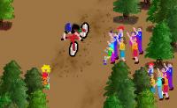 Vais fazer ciclismo de montanha. Tem cuidado para não chocares contra algo.