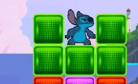 Ajuda o Stitch a encontrar e capturar todas as 10 experiências escapadas! Ele não pode mexer na sua própria, assim clica em conjuntos de 3 blocos ou mais para limpar o caminho de saída. Cuidado, pois os pretos com caveiras dentro são perigosos. Ganha pontos de bónus por estourar grandes conjuntos de blocos e resolvendo o puzzle cedo! As experiências estão escondidas ao longo da ilha. Resolve os puzzles para as capturares.