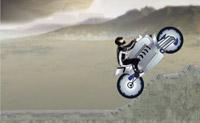 Tente atingir os diferentes níveis sem danificar a moto!