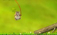 Clica em direcção a uma plataforma para te agarrares  a ela. Depois arrasta o hamster com o cursor do rato para o balançares. Quando ele tiver velocidade suficiente, toca na barra de espaços para saltar da corda e clica imediatamente para te agarrares a uma nova plataforma, se o quiseres. As cerejas dão pontos de bónus.