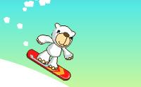 Faz Snowboard pela montanha abaixo com o urso polar enquanto apanhas frutas e evitas os objectos maus.