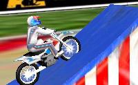 Este é um jogo engraçado de motocross com o duplo Evel Knievel! Salta com a tua moto por cima do fogo e tenta parar dentro do tempo. Boa sorte!