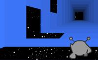 Ajuda este pequeno alienígena a correr o mais rápido possível através deste túnel espacial, sem cair nas brechas. Este jogo tem 3 modos: o modo Avançado, o modo Infinito e o modo de Edição.