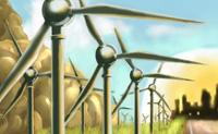O teu objectivo é criar e vender energia limpa construindo parque eólicos. Podes criar energia limpa proveitosa tomando as decisões acertadas sobre onde colocar as turbinas de vento. Tens 3 anos para atingir o teu alvo energético.