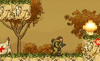 Salva os soldados feridos e leva-os de volta para o acampamento. Apenas podes carregar um soldado de cada vez. Evita as bombas ou rebenta-as para ganhares pontos.