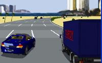 Um jogo de corridas de dez níveis, no qual tens de tentar atingir a meta o mais rápido possível sem propenso a acidentes.