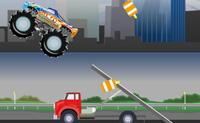 Quanto mais destruíres com este camião monstruoso, mais pontos ganhas!