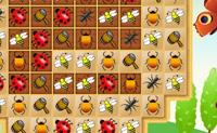 O objectivo principal deste jogo � criar parelhas de 3 ou mais insectos em fila clicando no mosaico ao seu lado por forma a trocares insectos.