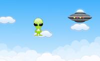 Este extra-terrestre está desamparado sem a sua nave espacial! Move-o através das nuvens para atingir a nave sem cair. Evita acertar nos foguetes ou perdes uma vida. Em cada nível, deves tentar atingir a nave dentro da duração de tempo dada, por forma a cegares a níveis mais altos.