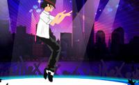 Vai em tournée com o Michael Jackson e ajuda-o com os complicados passos de dança. Bate na seta que aparece no ecrã, para que ele faça os movimentos correctos no momento certo. Em cada cidade há uma nova coreografia, logo faz o teu melhor!