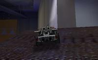 Corre por aí e faz várias acrobacias com o teu carro de corrida Lego.