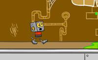 Os fanfarrões da escola Lenny e Denny roubaram o cérebro do Robot Jones! Persegue-os pela escola para o recuperares antes que eles atinjam o fim do telhado!