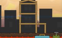 Neste jogo tens de fazer com que o entulho do edifício fique abaixo da marca de altura. Provocas explosões colocando dinamite no edifício e clicando em 'boom'.