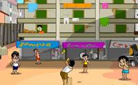 Ajuda o Chintu e a sua trupe a atirar tacadas de Criquete nos apartamentos. Um bom tempo é importante, e muito cedo ou muito tarde podem-te custar um postigo. Cria tanto caos quanto possas antes que sejas corrido da cidade!