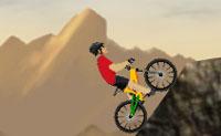 Tenta completar todos os doze níveis deste jogo de bicicleta de montanha! O caminho é montanhoso e íngreme, logo uma boa agilidade é requerida se queres chegar à linha final.