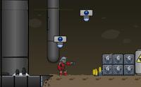 Ajuda o caçador de recompensas Scratch a perseguir o Dr. Grimalkin, o dono de uma fábrica onde perigosos robots são construídos.