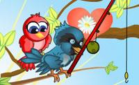 Ajuda este papagaio a impressionar a papagaia que ele ama! Ela vai pedir flores, e ele tem que as trazer. Sê rápido, pois as flores voam e a papagaia pode perder a paciência.