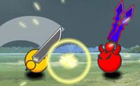 Um jogo que põe a rapidez da tua reacção à prova. Na barra vermelha abaixo, verás um  cubo branco movendo rapidamente da esquerda para a direita. Tenta clicar no meio da barra, exactamente quando o cubo branco está no meio e as forças de Smileys amarelos são mais fortes. O 'bom' smiley amarelo tem depois a melhor oportunidade de bater o 'demoníaco' smiley vermelho.