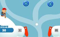 Inicia o jogo quando o duende atira a bola de neve para o ecrã de jogo. Usa os flippers para manter a bola no jogo e para obteres tantos pontos quanto possível. Cada nível tem os seus próprios desafios!