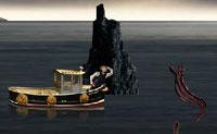 O Conde Olaf está à procura de um tesouro no Lago Lacrimoso. Guia-o através do lago e evita as pedras e as sanguessugas, caso contrário vais ao fundo do lago.