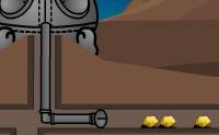 Escava por pepitas de ouro, mas não  toques nas toupeiras!