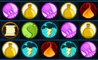 Forma grupos de 3 simbolos id�nticos de forma a apag�-los. Com combina��es de 4 ou mais simbolos pode criar poderosos feiti�os. Estes feiticos podem ser usados para apagar simbolos indestrut�veis. Tamb�m h� pe�as chave que podes usar para qualquer outro s�mbolo.