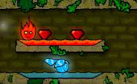 Assegura que a água e o fogo não se tocam no labirinto do Templo da Floresta! Em cada nível tens diferentes objectivos. Há três níveis onde tens de atingir a saída o mais rapidamente possível e apanhar todos os diamantes. Noutro nível, o Menino Fogo e a Rapariga Água vão à procura do diamante verde. E num outro nível, está completamente escuro, assim é difícil fazer o Menino Fogo e a Rapariga Água mover em segurança. Evita o óleo preto: ele mata o Menino Fogo e a Rapariga Água. Um jogo cheio de belos desafios, de que não te fartarás. Tenta bater os records!  <a href=