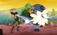 Bem está preso no jogo de video Sumo Slammers Smackdown. Ajuda-o a recuperar os itens Ultra-T das mãos do malvado Kenko!