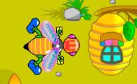 Como o Papá Abelha está ocupado com um pedido que a raínha lhe fez, o seu filho mais velho terá de ir apanhar néctar para fazer mel. Ajuda-lo nesta difícil e nova tarefa? Clica nas flores que contêm néctar e depois clica no enxame. Repete isto até que a pequena abelha tenha apanhado néctar suficiente para fazer mel.