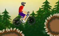 Monta a tua bicicleta BMX por esta paisagem rochosa e tenta ganhar o máximo de pontos possível. Para ganhar velocidade rapidamente, inclina-te para trás enquanto andas. Continua a inclinar-te quando estiveres no ar para fazer uma pirueta. Quando caíres numa cova, inclina-te para trás e deixa a tua roda da frente aterrar primeiro. As piruetas aumentam a tua pontuação!