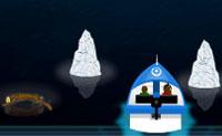 Navega este rápido barco pela água sem atingir icebergs, tábuas e navíos naufragados. Sobrevive o máximo que possas para obter o máximo de pontuação possível.