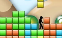 Uma louca mas divertida versão de Tetris, no qual tens de evitar as peças de Tetris que caem. Se fores projectado ou deres um passo em falso e caíres da barra, morres. Vamos ver quantos segundos duras!