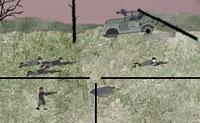 És um atirador ajudando a defender a tua base que está sobre ataque. Há diversos meios à tua disposição, como granadas morteiro e um ataque com uma bomba grande. Abate os soldados dos teus inimigos e ganha pontos de habilidade para comprar fortificações ou vidas extra. Boa sorte!