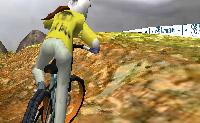 Termina o percurso de ciclismo de montanha dentro do tempo indicado. Andas de bicicleta contra o computador. Este jogo grátis em 3D pode demorar a carregar.