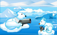 Ajuda a mãe urso a alimentar a sua cria tirando os peixes dos cubos de gelo. Aponta com cuidado, pois só tens um número limitado de bolas para atirar. Diverte-te!